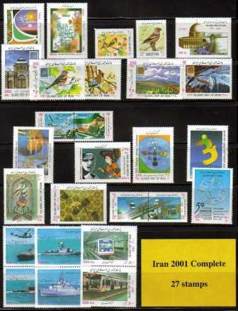 <font color=red>2001 Complete Year Set. </font> Click for more