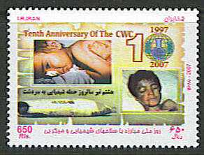 Scott #2932 10th anniversary of CWC (Chemical Weapons Convention <p> <a href=&quot;/shop/catalog/images/Iran-Scott-2932.jpg&quot;>   <font color=green><b>View the image</b></a></font>